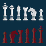 vector set of chess icons Royalty Free Stock Images