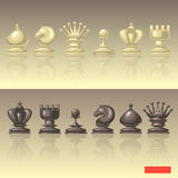 Vector set of chess pieces Royalty Free Stock Images