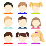 Vector set of child face icons. Stock Images