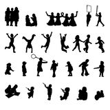 Vector set of children playing Royalty Free Stock Photo