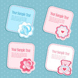 Vector set of children's design elements Royalty Free Stock Photography