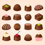 Vector set of chocсolate candies Royalty Free Stock Image