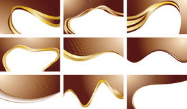 Vector set chocolate backgrounds Stock Photo