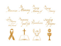 Vector set of christian religious icons Stock Photography