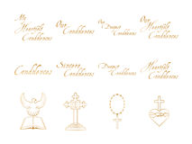 Vector set of christian religious icons Royalty Free Stock Photography