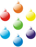 Vector set of christmas balls Royalty Free Stock Photo