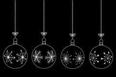 Vector set of christmas balls Stock Images