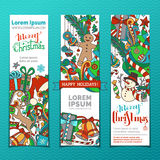 Vector set of Christmas banners. Stock Images