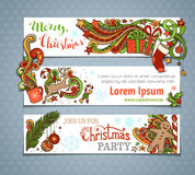Vector set of Christmas banners. Stock Photography