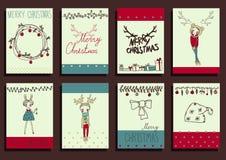 Vector Set Christmas Calligraphic Design Elements Stock Photos