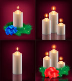 Vector set of christmas cards Stock Photography