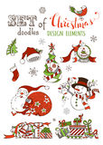 Vector set of Christmas design elements isolated on white background. Royalty Free Stock Image