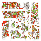 Vector set of Christmas design elements. Royalty Free Stock Photography