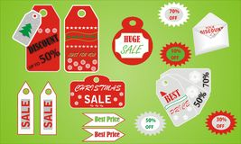 Vector set for Christmas design Royalty Free Stock Images