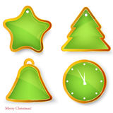 Vector set of christmas elements . Stock Photography