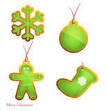 Vector set of christmas elements . Royalty Free Stock Photos