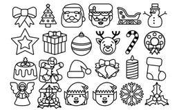 Set Of Christmas Emojis Isolated On White Background Royalty Free Stock Photo