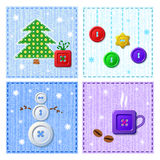 Vector set of Christmas greeting cards Stock Image