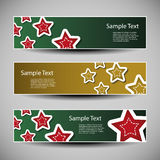 Vector Set of Christmas Headers Royalty Free Stock Photos