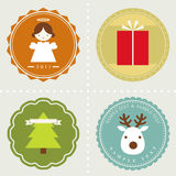 Vector set: Christmas labels Royalty Free Stock Photo