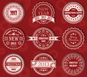 Vector set of Christmas labels Royalty Free Stock Images