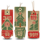 Vector set: christmas and new year sale tags Stock Photo