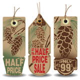 Vector set: christmas and new year sale tags Royalty Free Stock Photography