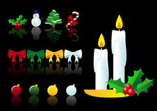 Vector set of christmas symbols Stock Photo