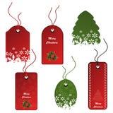 vector Set of Christmas tags Stock Photo
