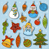 Vector set of Christmas tree toys Stock Photo
