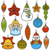 Vector set of Christmas tree toys Royalty Free Stock Photography