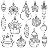 Vector set of Christmas tree toys Stock Photography