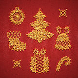 Vector set of Christmass symbols for your design Stock Photo