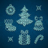 Vector set of Christmass symbols for your design Royalty Free Stock Images
