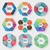Vector set of circle abstract infographics Royalty Free Stock Photography