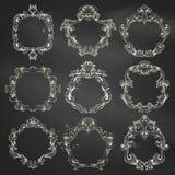 Vector set of circle chalk frames. Stock Photography