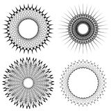 Vector Set of Circle Geometric Ornaments Royalty Free Stock Image