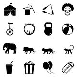 Vector Set of Circus Icons Stock Image