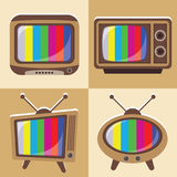 Vector set of classic television 1 Stock Image