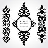Vector set with classical ornament in Victorian style. Stock Image