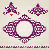 Vector set with classical ornament in Victorian style Royalty Free Stock Photo