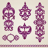 Vector set with classical ornament in Victorian style Stock Photo