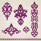 Vector set with classical ornament in Victorian style Royalty Free Stock Images