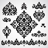 Vector set with classical ornament in Victorian style. Ornate element for design. Frames and vignettes for your text. Pattern for wedding invitations, greeting royalty free illustration
