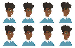 Vector set of cleaner characters. Stock Photo