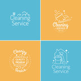 Vector Set for cleaning Royalty Free Stock Photography