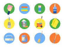 Vector set of cleaning tools. Royalty Free Stock Photography