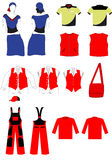 Vector set of clothes. Illustration of a vector set of clothes Stock Image