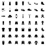 Vector Set of 49 Clothes Icons Royalty Free Stock Photography