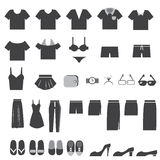 Vector Set of Clothes Icons Stock Images